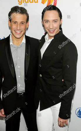 Stock Photo of Victor Voronov and Johnny Weir