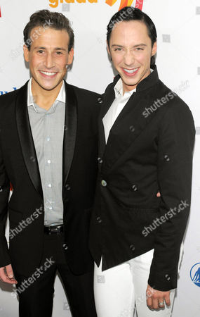 Stock Picture of Victor Voronov and Johnny Weir