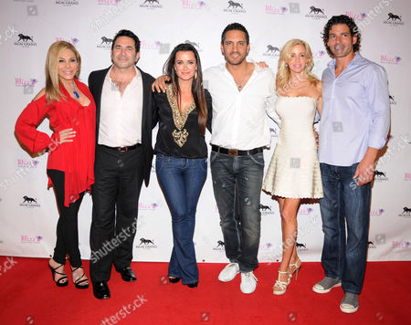 Adrienne Maloof-Nassif, Dr Paul Nassif, Kyle Richards, Mauricio Umansky, Camille Grammer, and Dimitri Charalambopoulos