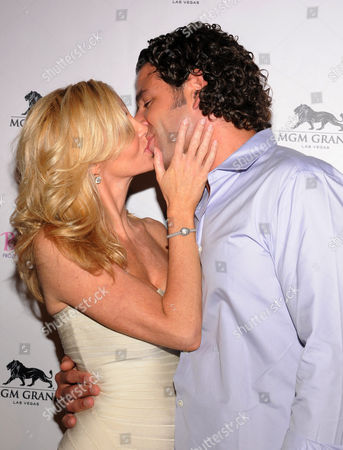 Stock Photo of Camille Grammer and Dimitri Charalambopoulos