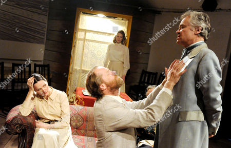 'Uncle Vanya' - Charlotte Emmerson as Sonya, Iain Glen as Uncle Vanya, Lucinda Millward as Yelena, David Yelland as Professor