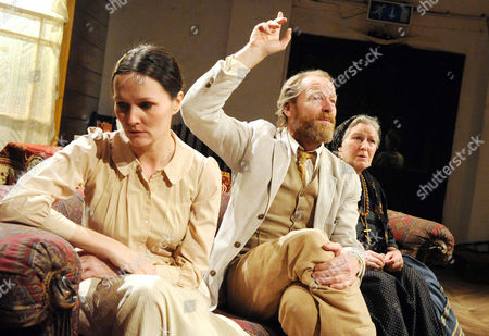 'Uncle Vanya' - Charlotte Emmerson as Sonya, Iain Glen as Uncle Vanya and Marlene Sidaway as Marina