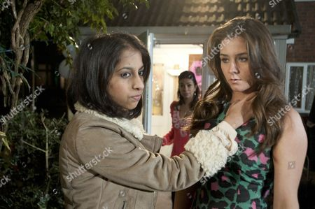 It's Sophie Webster [Brooke Vincent] & Sian Powers [Sacha Parkinson] hen night and after a game of Mrs & Mrs, Sally makes a touching speech. But when Amber Kalirai [NIKKI PATEL] takes Sophie to one side and tells her she's making a mistake by marrying Sian and leans in for a kiss how will Sophie react? Sunita Alahan [Shobna Gulati] witnesses what's happened.
