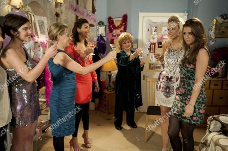 The hen partys underway Sally Webster [Sally Dynevor]  makes a speech and everything is going well  the guests  toast Sian and Sophie. Amber Kalirai [Nikki Patel]  makes a move on Sophie Webster [Brooke Vincent]  inviting her outside.