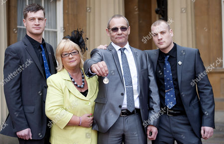 The family of serviceman Private Martin Bell (l/r) Oliver Bell (brother), Elaine Bell (mother), Simon Bell (father) and Philip Bell (brother)