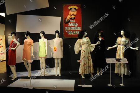 1970s dresses by Ossie Clarke, Celia Birtwell, Biba and Mary Quant