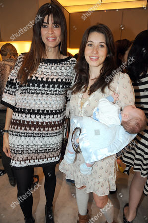 Lisa B and Lauren Kemp with baby son Rex