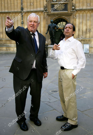 Chris Patten of Barnes Chancellor of The University of Oxford and Vikram Seth