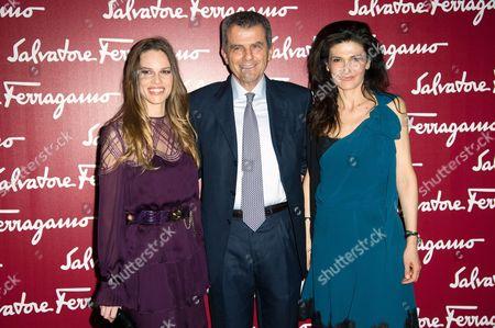 Hilary Swank and Ferruccio Ferragamo