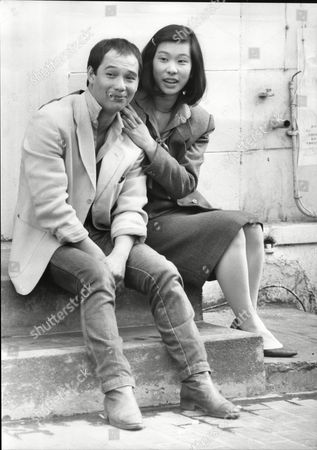 David Yip And Lucy Sheen Actors Making Film Ping Pong 1985.