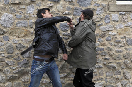 Zak Dingle [Steve Halliwell] warns Cain Dingle [Jeff Hordley] to leave Charity and Jai alone, which causes Cain to lash out, punching Zak hard in the face. Zak is furious but when Cain snidely remarks how Zak stood by and let a man rape Lisa Dinlge [Jane Cox] ; Lisa see red and slaps unrepentant Cain