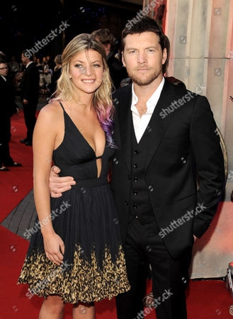 Stock Image of Crystal Humphries and Sam Worthington