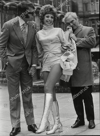 Dick Emery And Peter Elliott Comedians With Elliott's Wife Dancer Karen Young At Their Wedding 1971.
