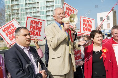 Editorial image of Ken Livingstone campaigning during the London mayoral elections, Woolwich, London, Britain - 30 Mar 2012