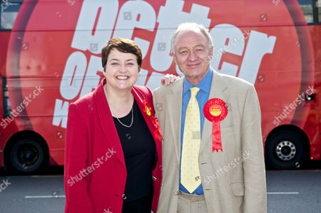 Stock Image of Val Shawcross and Ken Livingstone