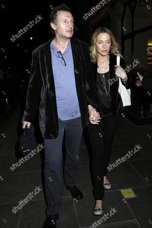 Stock Photo of Liam Neeson and Freya St Johnston