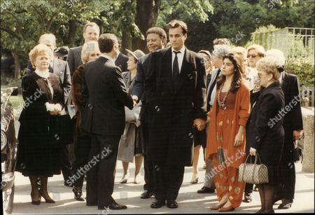 Editorial image of Cynthia Payne Former Madame At Funeral Of Jazz Singer Bertice Reading Honor Oak Crematorium 1991.