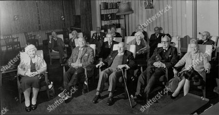 Editorial image of Old Time Variety Stars Watch Recording Of Royal Variety Show 1964. Hilda Ray Florian Matei Whit Air Bob Lecardo Ada Whittaker Johnny Val Harry Zeta Esther Burley Mimi Fisher Charles Heeley Jack Wilson Ui Desmomnds Maudie Edwards Ethall Nall Bill Curt