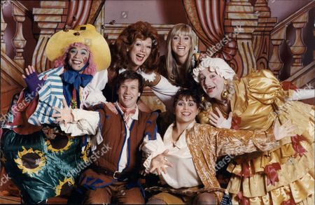 People Playing In Panto At Various Theatres: (l-r Back Row) David Yip As Mother Goose Rula Lenska As Dick Whittington Zoe Nicholas As Cinderella Bill Thomas As Mother Goose. Front Row: Peter Duncan As Dick Whittington And Yasmin Wilde As Dick Whittington.