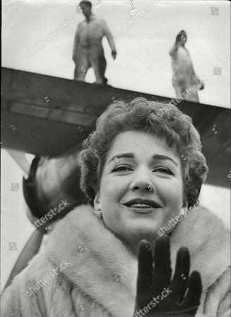 Actress Anne Baxter At London Airport.