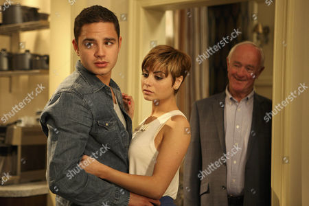 Dermott Macey [Frank Kelly] surprises Mia Macey [Sapphire Elia] and Adam Barton [Adam Thomas] when he arrives back early – He tells them their secret id safe with him.