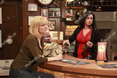 Ella Hart [Corrinne Wickes] is humiliated when Mia Macey [Sapphire Elia]  announces her and Adam Barton affair to the pub -