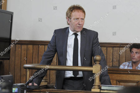 Stock Picture of The judge has to intervene as an angry Jerry Walsh [Michael J Jackson] rants to the prosecution about Aaron Livesy's hold over Jackson.