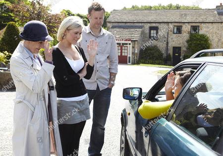 Scarlett Nichols [Kelsey-Beth Crossley] says her goodbyes as she leaves the village.