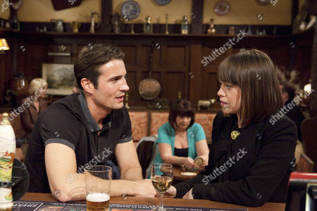Gennie Walker [Sian Reese-Williams] defends Nikhil when Nicky Pritchard [Matt Milburn] is being spiteful about him - Nicky tells her he loves her.