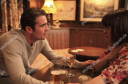 Gennie Walker [Sian Reese-Williams] dumps Nicky Pritchard [Matt Milburn].