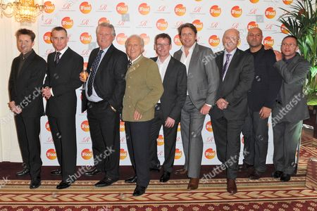 Gary Rhodes, Brian Turner, Michel Roux, Andrew Fairlie, James Martin, Sat Baines and Alain Roux (Judging Panel)