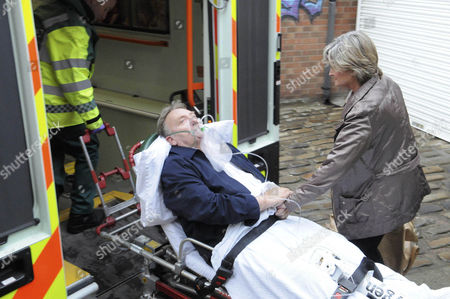 Bill Webster [Peter Armitage] has a heart attack and is taken away by ambulance, also Pam Hobsworth [Kate Anthony]