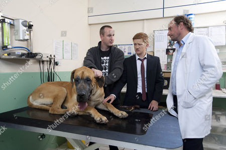 Chesney Battersby-Brown [Sam Aston] refuses to accept his dog is dying and won't hear of having him put down. Instead he insists the vet tries an expensive operation to prolong his life. But with no money to even pay off the council can Ches afford the op? Also pictured Kirk Sutherland [Andrew Whyment].