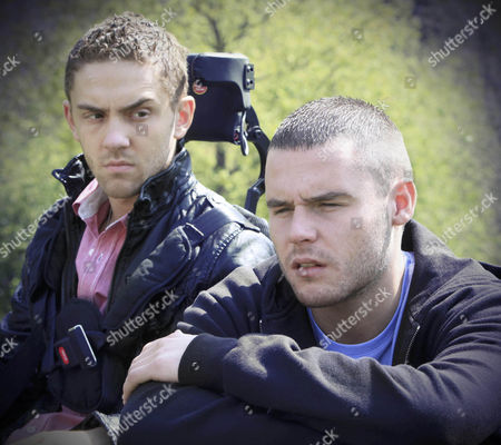 Stock Image of Jackson Walsh [Marc Silcock] tells Hazel Rhodes and Aaron Livesy [Danny Miller]the time has come