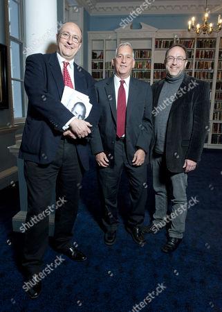 Roger Highfield, Walter Isaacson and Jimmy Wales