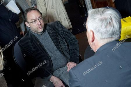 Jimmy Wales and Walter Isaacson