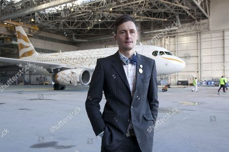 Editorial photo of Tracy Emin unveils British Airways Olympic plane 'The Dove', Heathrow Airport, London, Britain - 03 Apr 2012