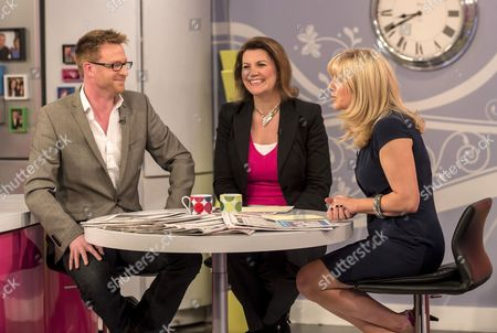 Olly Kendall and Julia Hartley-Brewer with Jackie Brambles
