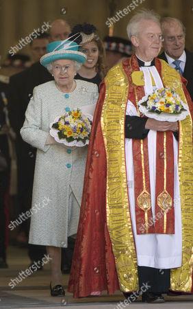 Queen Elizabeth II and The Dean of York Dr Keith Jones
