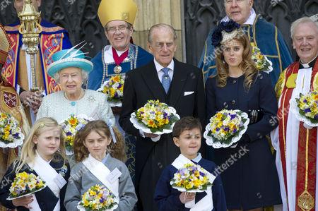 Queen Elizabeth II, Prince Philip, Princess Beatrice, The Dean of York Dr Keith Jones