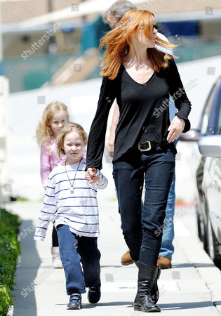 Editorial image of Marcia Cross and family out and about in Brentwood, Los Angeles, America - 06 Apr 2012