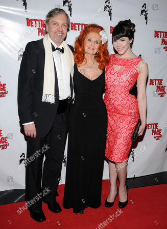 Mark Mori documentary director and producer, Tempest Storm and Claire Sinclair 2011 Playboy Playmate of the Year