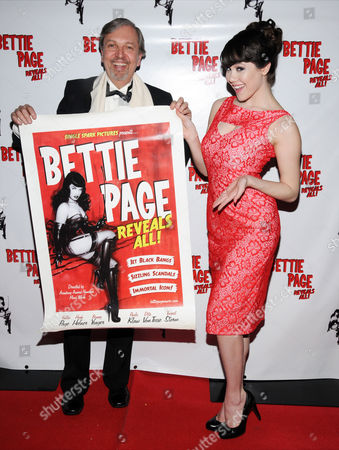Stock Image of Mark Mori documentary director and producer and Claire Sinclair 2011 Playboy Playmate of the Year