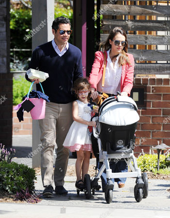 Cash Warren and Jessica Alba with daughters Honor Marie and Haven Garner