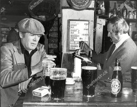 Actor Patrick Mcgoohan Drinking At A Bar In County Wicklow During A Break In Filming 'the Hard Way'.