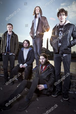 Stock Image of Dry The River - Peter Liddle, Matt Taylor, Scott Miller, Will Harvey and Jon Warren
