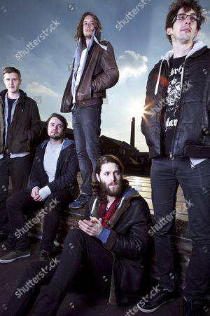 Stock Picture of Dry The River - Peter Liddle, Matt Taylor, Scott Miller, Will Harvey and Jon Warren