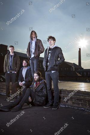 Stock Photo of Dry The River - Peter Liddle, Matt Taylor, Scott Miller, Will Harvey and Jon Warren