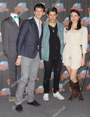 Stock Picture of Michael Urie, Nick Jonas and Stephanie Rothenberg