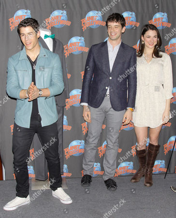 Stock Photo of Michael Urie, Nick Jonas and Stephanie Rothenberg
